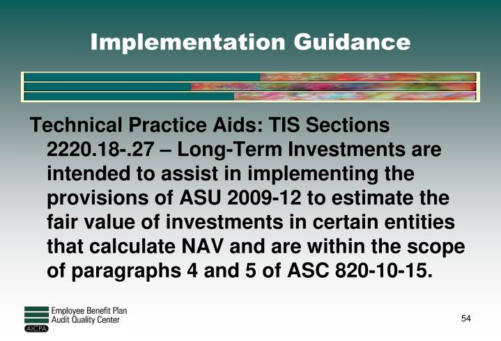 Implementation Guidance