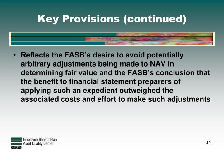 Key Provisions (continued)