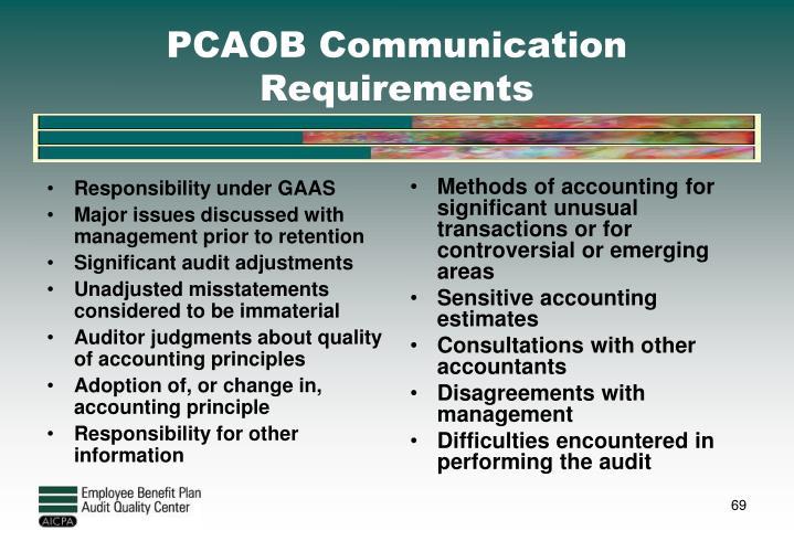 Responsibility under GAAS
