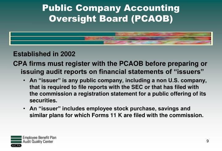 Public Company Accounting