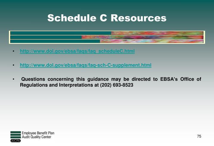 Schedule C Resources