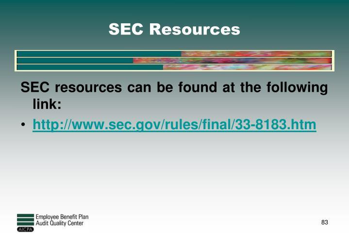 SEC Resources