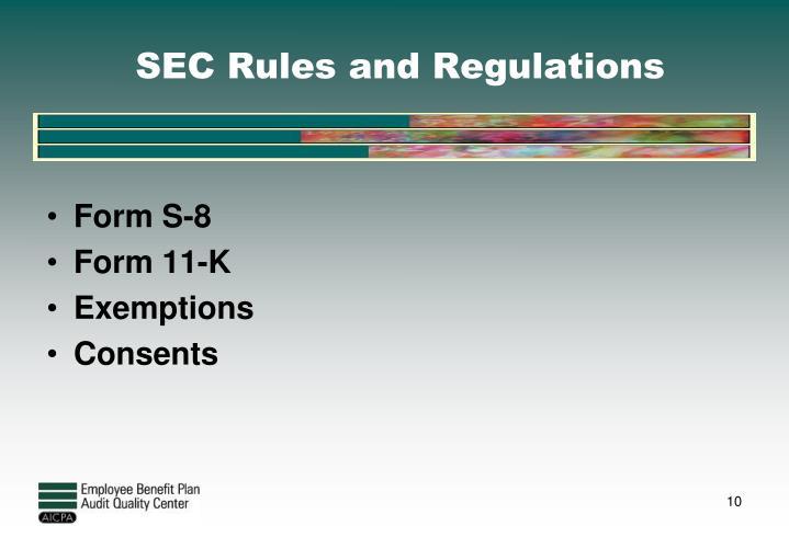 SEC Rules and Regulations