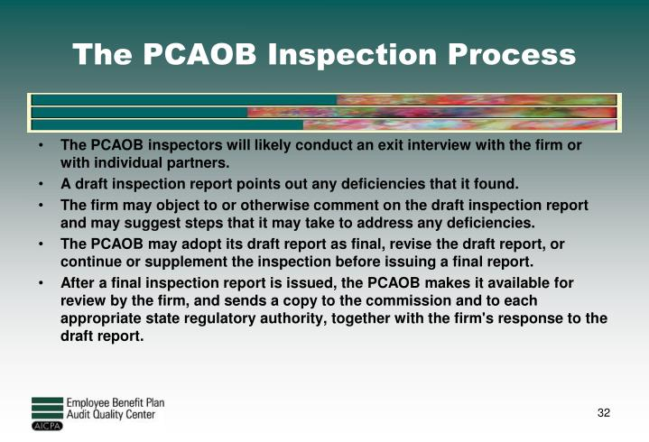 The PCAOB Inspection Process