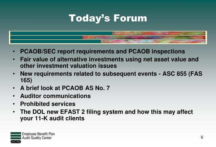 Today's Forum