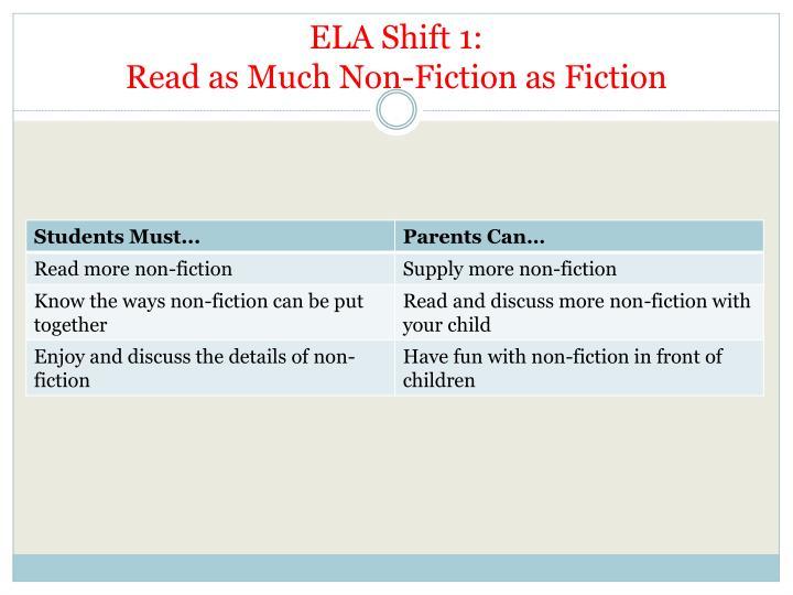 ELA Shift 1: