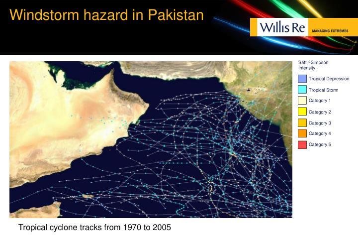 Windstorm hazard in Pakistan