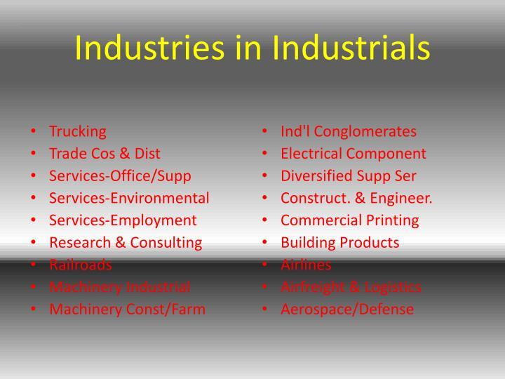 Industries in Industrials