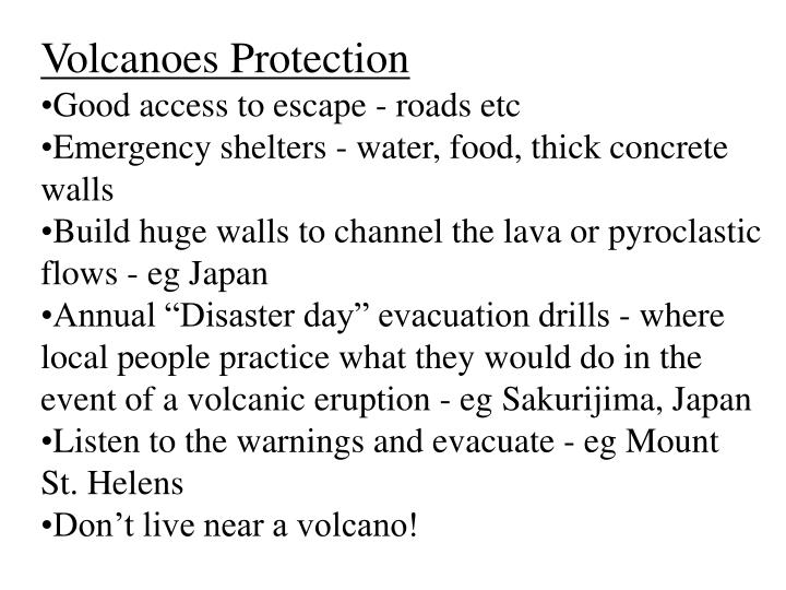 Volcanoes Protection