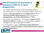 choice framework for local policy procedures cfpp 01 01 2012 england only