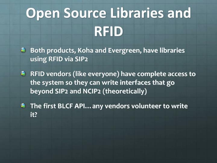 Open Source Libraries and RFID