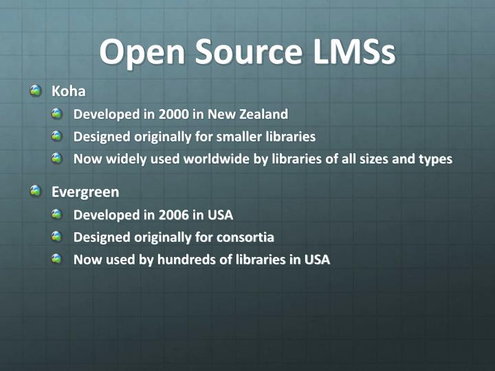 Open Source LMSs