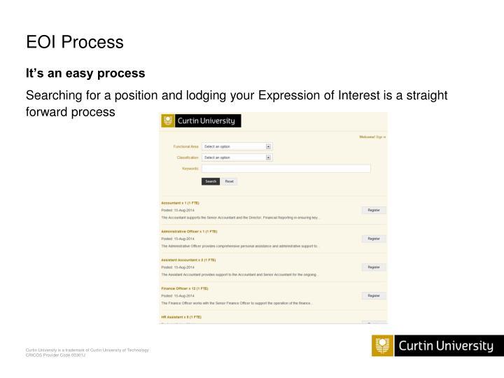 EOI Process