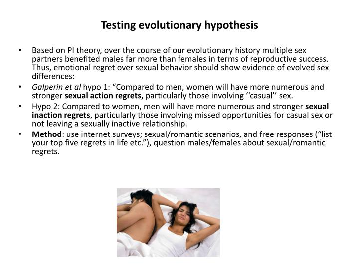 Testing evolutionary hypothesis