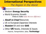 international perspectives the region in the world