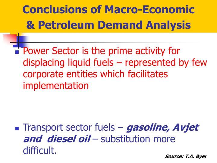 Conclusions of Macro-Economic