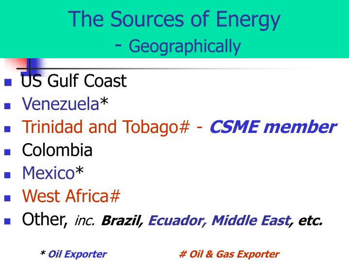 The Sources of Energy