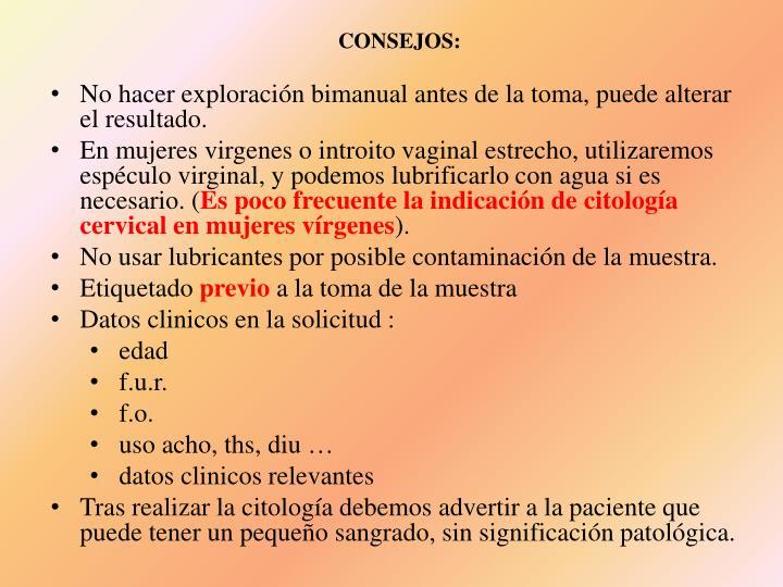 CONSEJOS:
