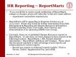 hr reporting reportmart1