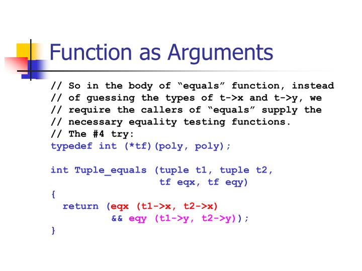Function as Arguments