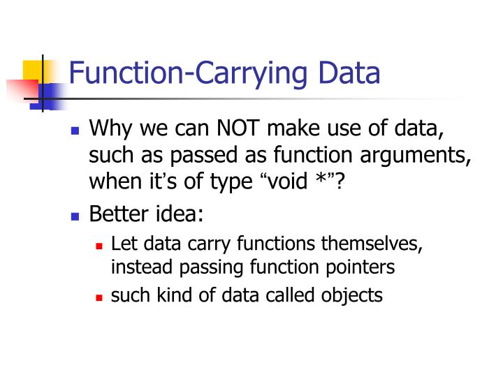 Function-Carrying Data