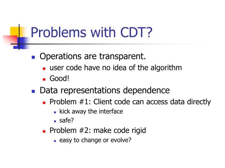 Problems with CDT?