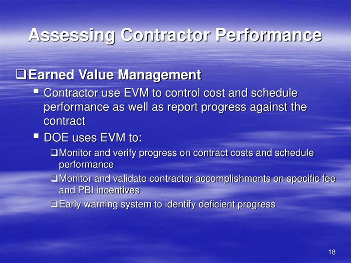 Assessing Contractor Performance