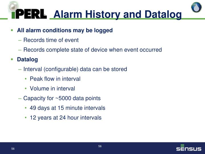 Alarm History and Datalog