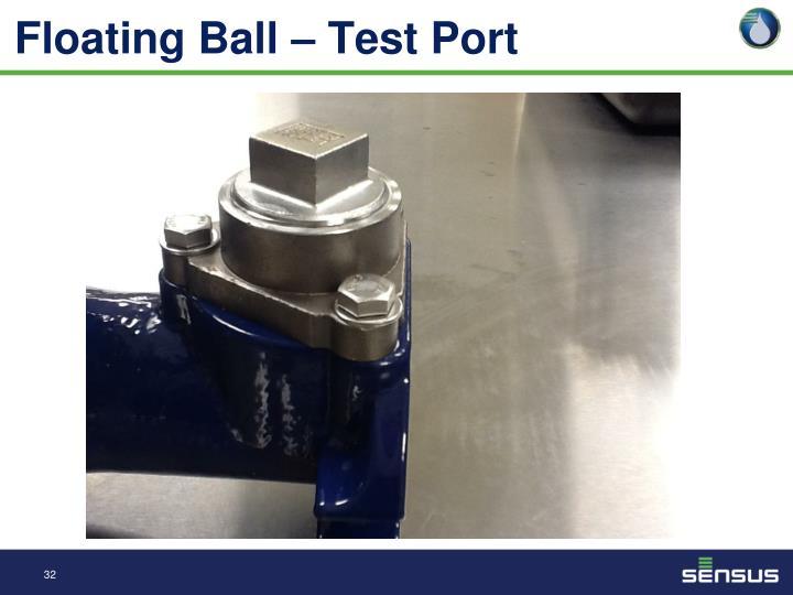 Floating Ball – Test Port