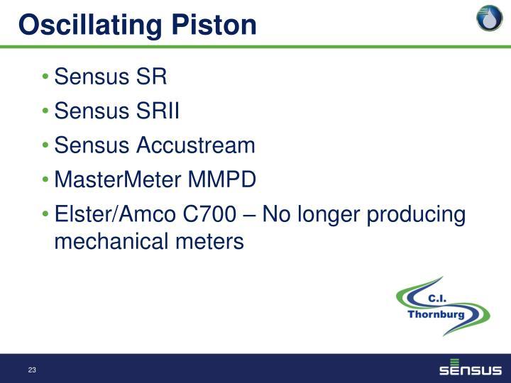 Oscillating Piston