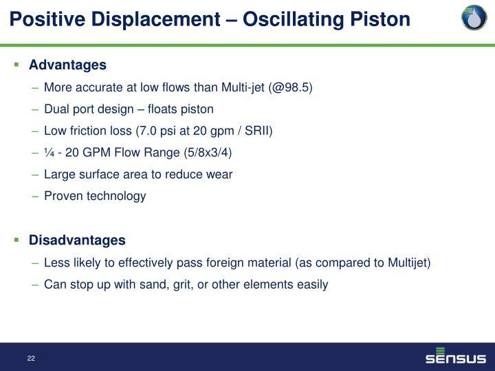 Positive Displacement – Oscillating Piston
