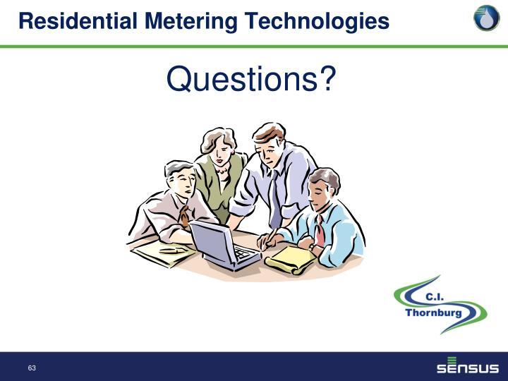 Residential Metering Technologies