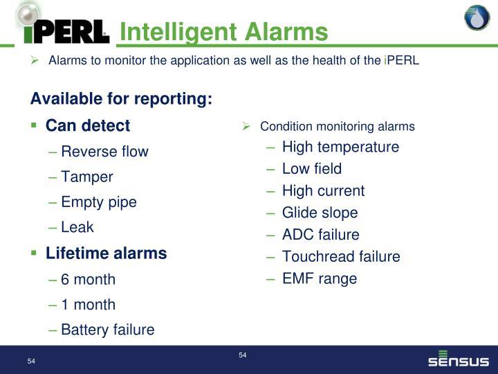 Intelligent Alarms