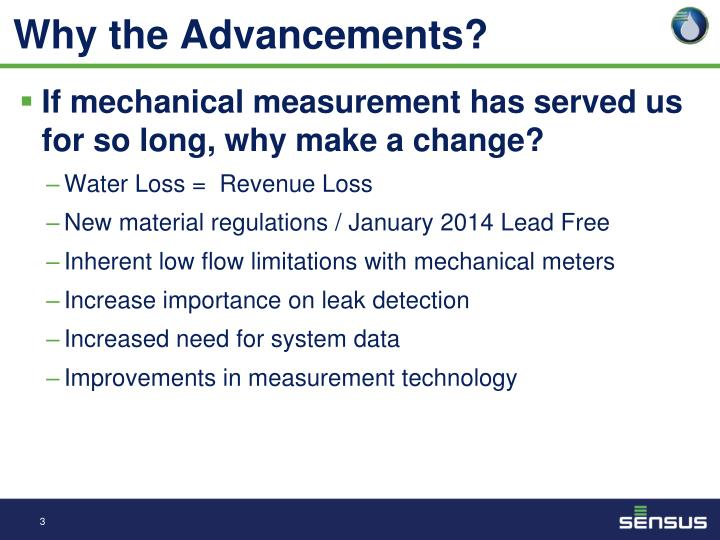 Why the Advancements?