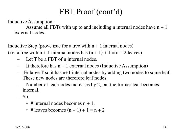 FBT Proof (cont'd)