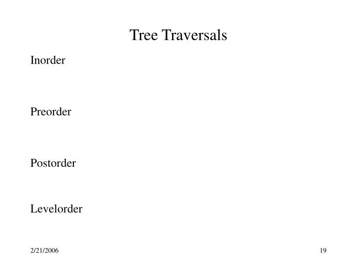 Tree Traversals