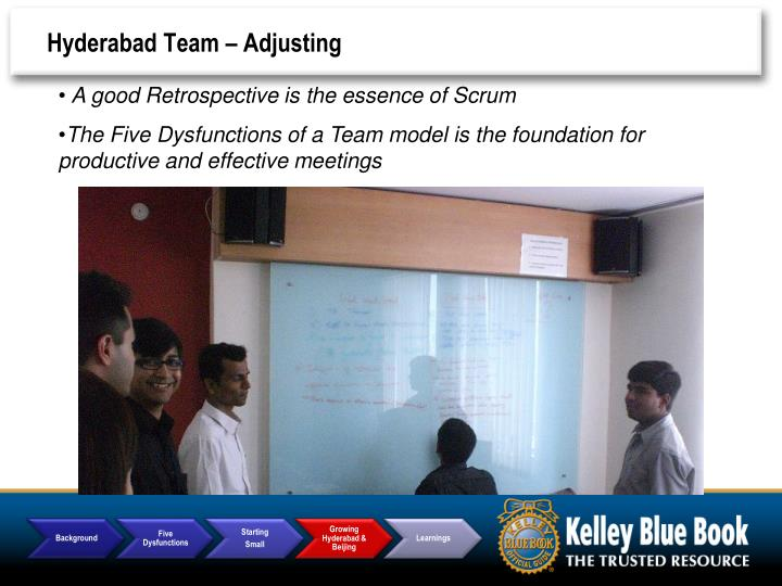Hyderabad Team – Adjusting