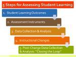 5 steps for assessing student learning