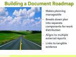 building a document roadmap