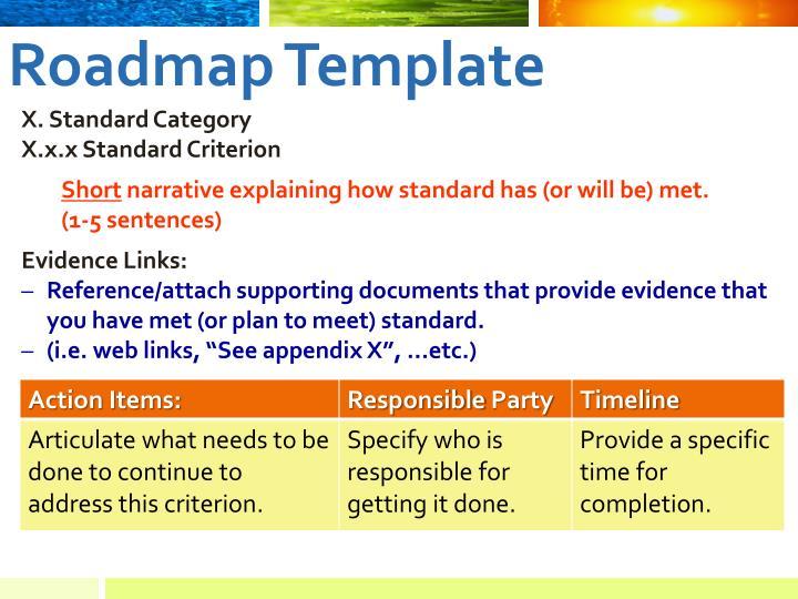 Roadmap Template