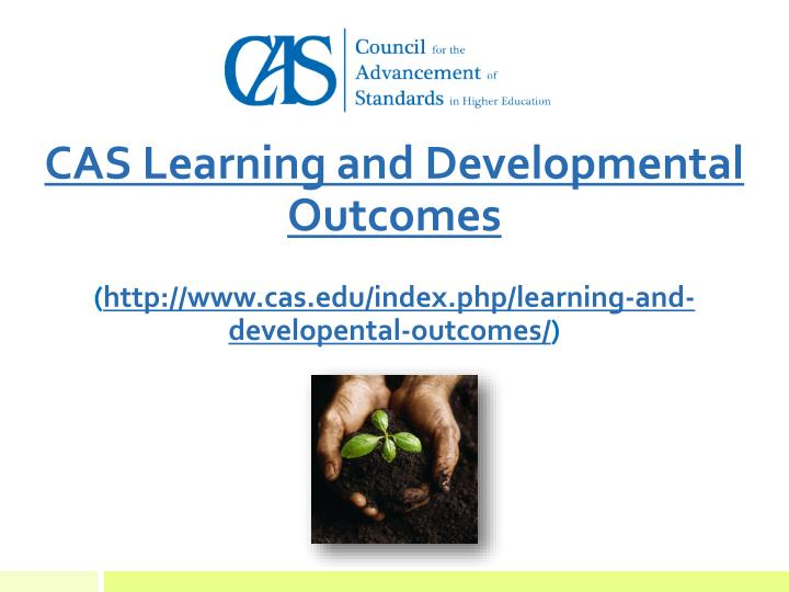 CAS Learning and Developmental Outcomes