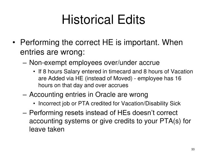 Historical Edits