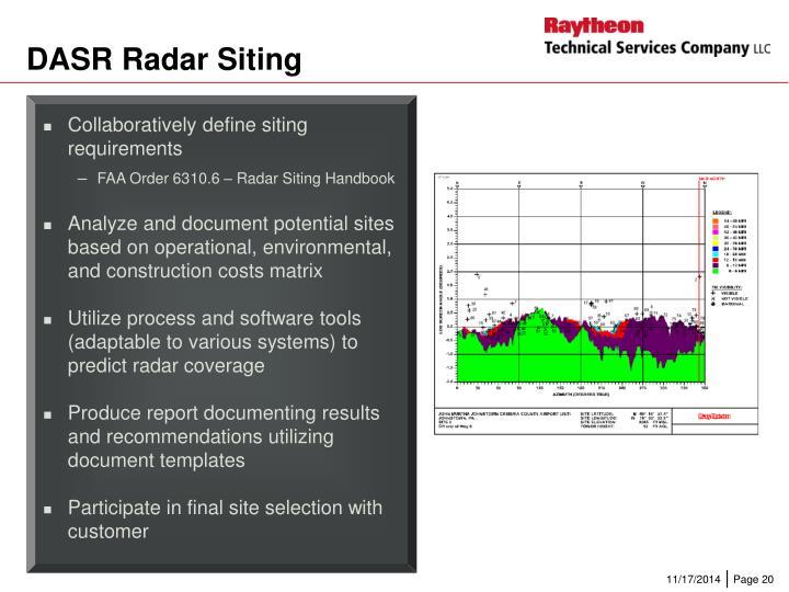 DASR Radar Siting
