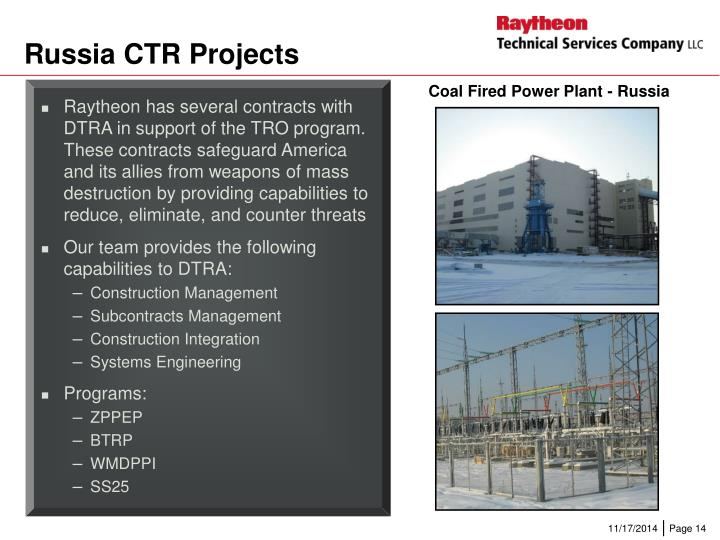 Russia CTR Projects
