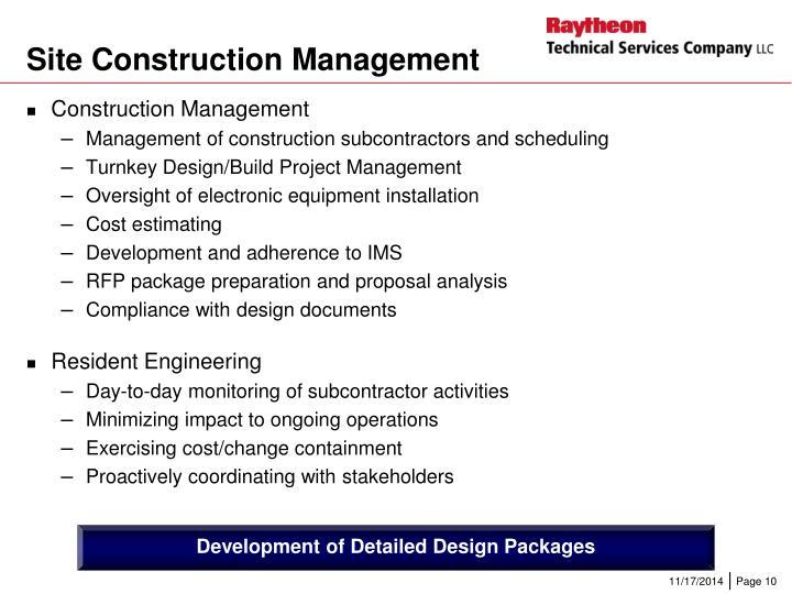Site Construction Management