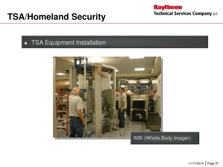 TSA/Homeland Security