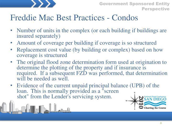 Freddie Mac Best Practices - Condos