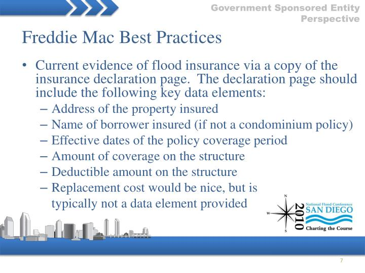Freddie Mac Best Practices