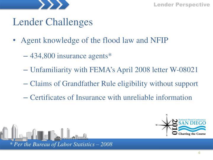 Lender Challenges