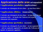 applicazione delle aree ed equazioni